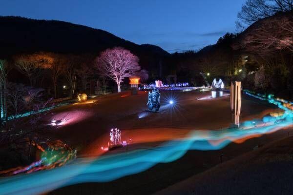 アートなライトアップイベント「箱根ナイトミュージアム」が今年も彫刻の森美術館で開催