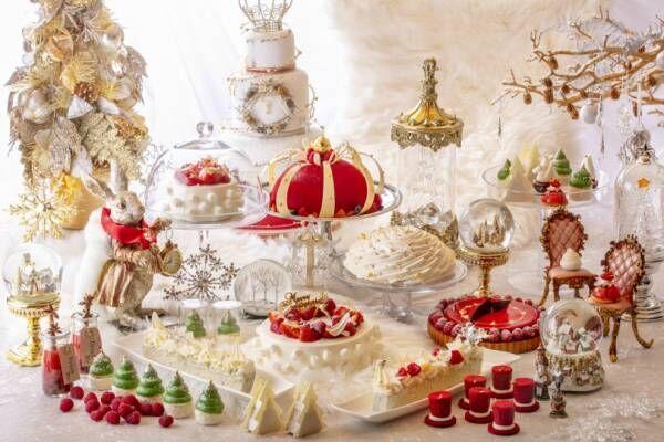ヒルトン東京、アリスがテーマのデザートビュッフェのクリスマスバージョンを開催
