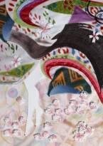 清川あさみが描く現代版百人一首の原画展が京都の両⾜院で開催