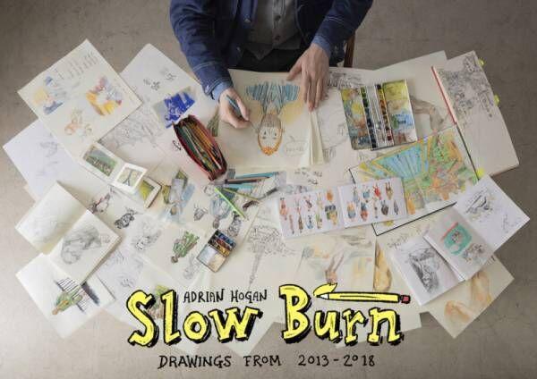 雑誌『POPEYE』の表紙などを手掛けるアーティスト、エイドリアン・ホーガンの個展が代官山で開催