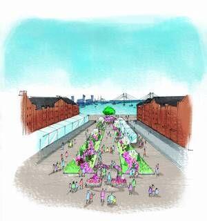 """横浜赤レンガ倉庫にマーガレットの丘が出現! 花の""""ハート型アーチ""""が迎えるフラワーガーデンイベント"""