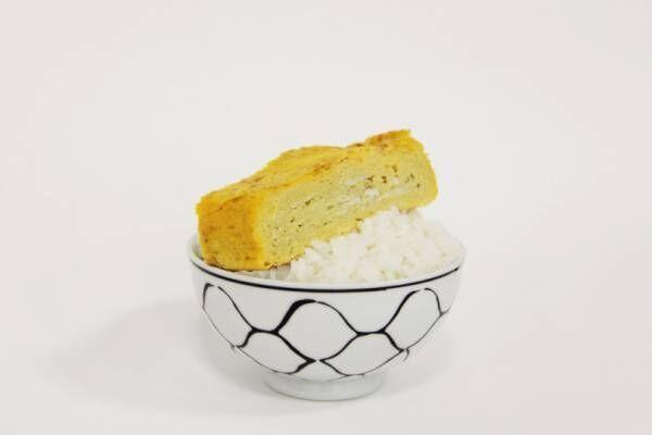 甘くてボリューミーな厚焼き玉子を白米にのせて【ごはんのおとも】