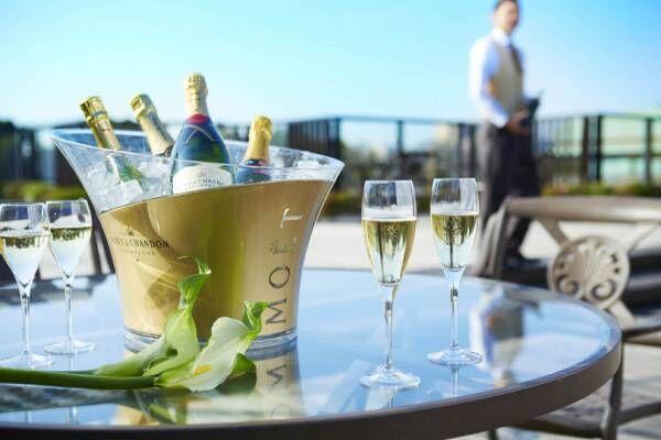シャンパンをフリーフローで心ゆくまで楽しめる「シャンパンガーデン」が、ホテル椿山荘東京にて開催