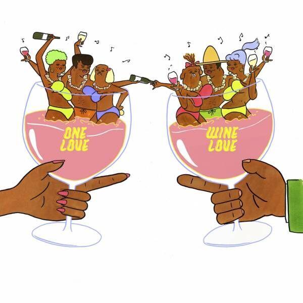 誰でも楽しめるワインイベント「One Love, Wine Love」。約180種のワインを飲み比べ