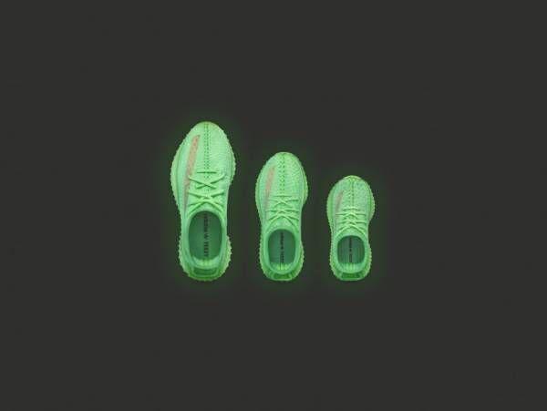 アディダス オリジナルス×カニエ・ウエスト、暗闇で光放つ「YEEZY BOOST」を発売! キッズやベビーサイズも