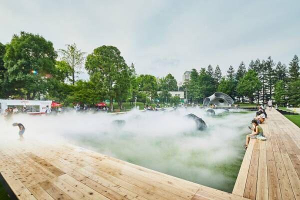 東京ミッドタウンに霧に包まれたデジタルアート庭園が出現。夏の涼を体感