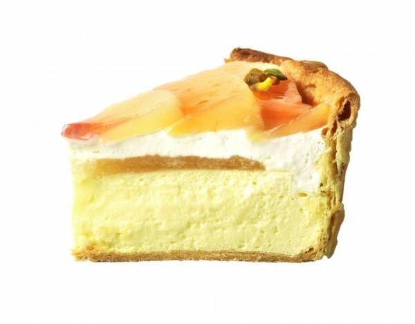 パブロ、夏限定で桃×ヨーグルトのチーズタルトを発売