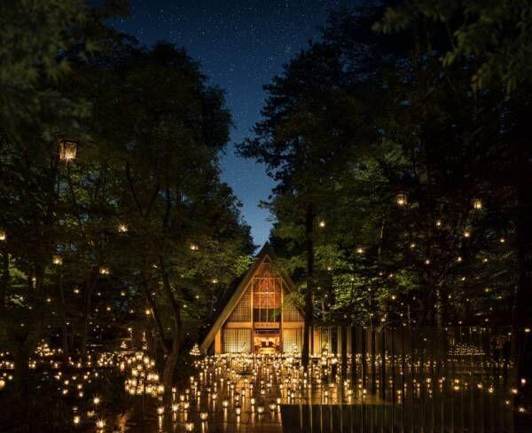 「軽井沢高原教会 サマーキャンドルナイト2019」長野・軽井沢高原教会で過ごす夏夜のひととき【レポート】