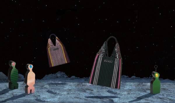 マルニのポップアップ「ムーンマーケット」が新宿伊勢丹に! ストライプバッグ新色を先行販売
