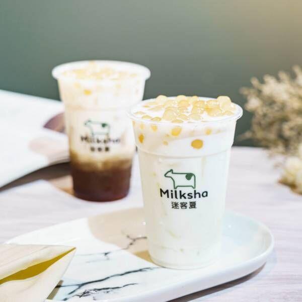 """台湾発、濃厚ミルクと""""白タピオカ""""の人気ドリンクブランド「ミルクシャ」が日本初上陸"""