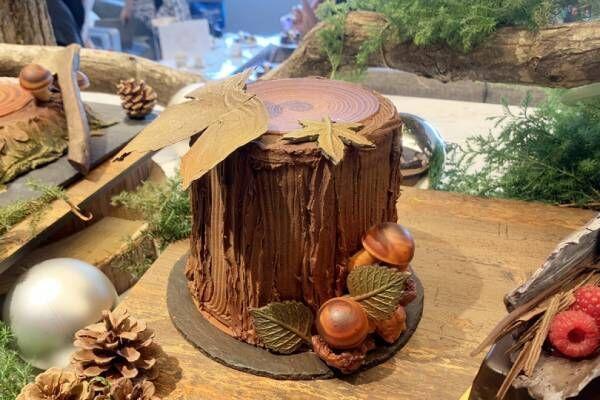 ウェスティンホテル東京、冬の森をイメージした丸太や切り株モチーフの11種のクリスマスケーキが登場