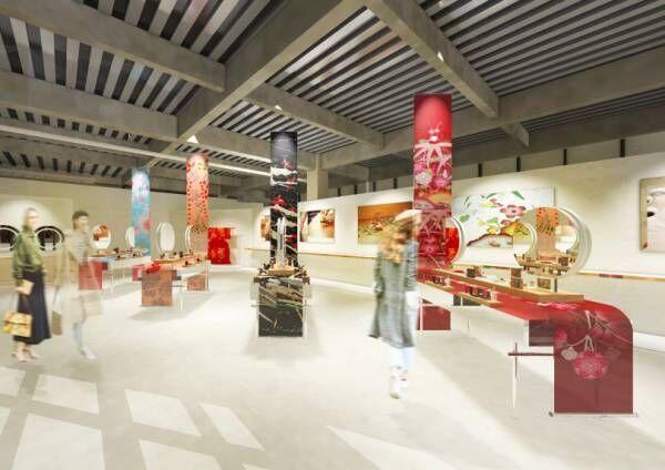 """クレ・ド・ポー ボーテ、""""着物""""に着想を得たホリデーコレクションの先行体験イベントが原宿で開催"""