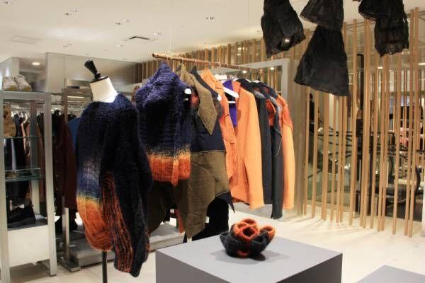 伊勢丹メンズでアーティスト・二ノ宮久里那とファッションブランド・アマチによる企画展が開催