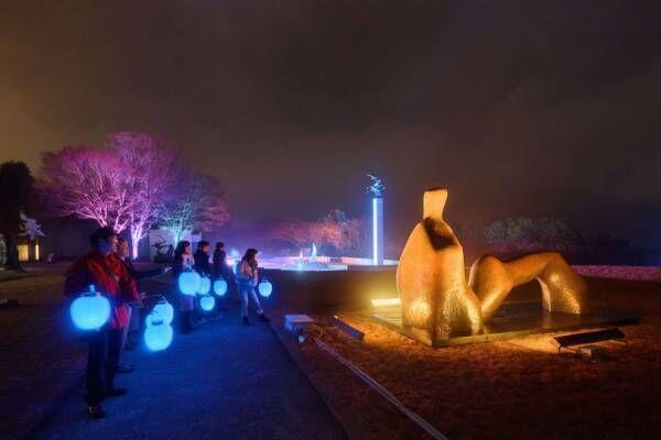 アートなイルミネーション「箱根ナイトミュージアム」が彫刻の森美術館で今年も開催