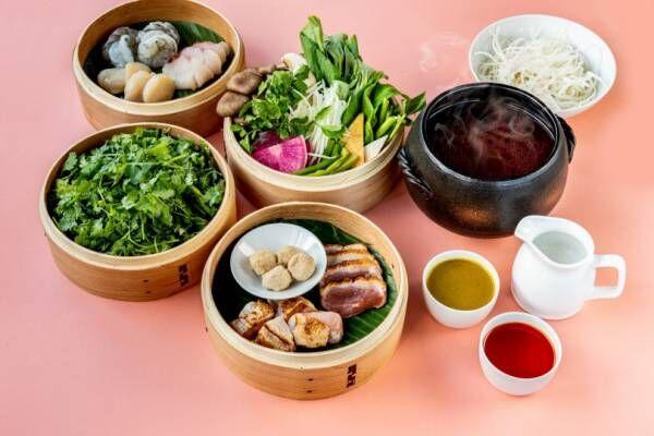 """恵比寿のタイレストラン・ロングレインで、3回の""""味変""""ができるトムヤムスープの鍋が今年も登場"""
