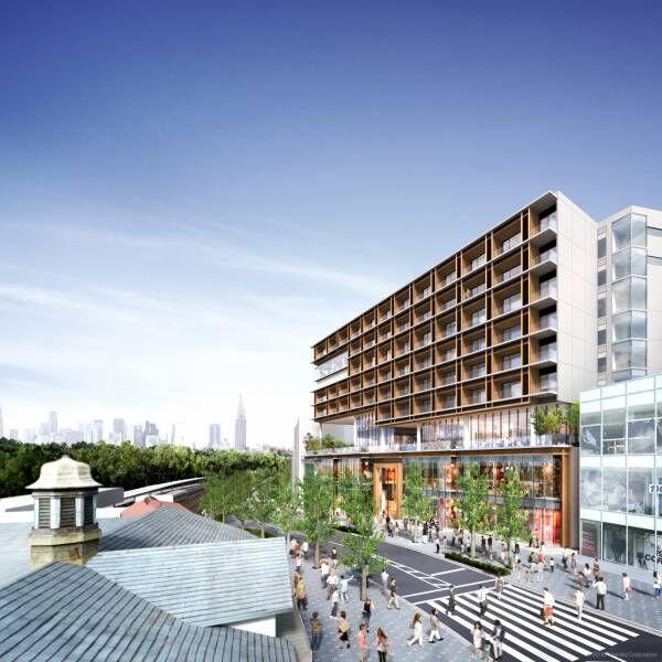 原宿駅前に複合施設「ウィズ原宿」が来春開業、イケア初の都市型店舗がオープン