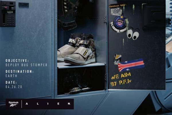 リーボック×映画『エイリアン 2』、コラボスニーカー発売。海兵隊のユニフォームやドロップシップを再現
