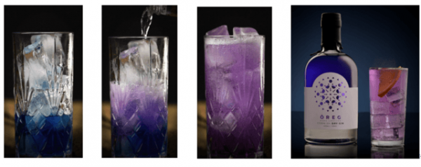 UKで今人気のブルー色のジン。飲み方で色の変化が楽しめるクラフトジン登場