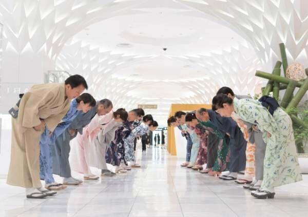 新しい日常のゆかたスタイルを日本橋三越本店が提案。7月3日の開店時はゆかた姿の社員がお出迎え