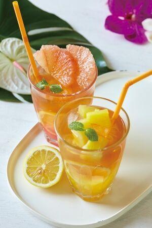 レモネードフルーツアイスティー ピンクグレープフルーツ&アールグレイ+レモネードフルーツアイスティー パイナップル&ジャスミン