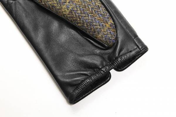 シンプルかつ上品な表情でコーデを選ばない! ハリスツイード本革手袋がスマートフォン対応で登場