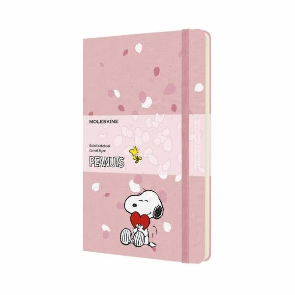 モレスキンがPEANUTSとコラボレーション! ピンクとホワイトの限定盤ノートブックが発売
