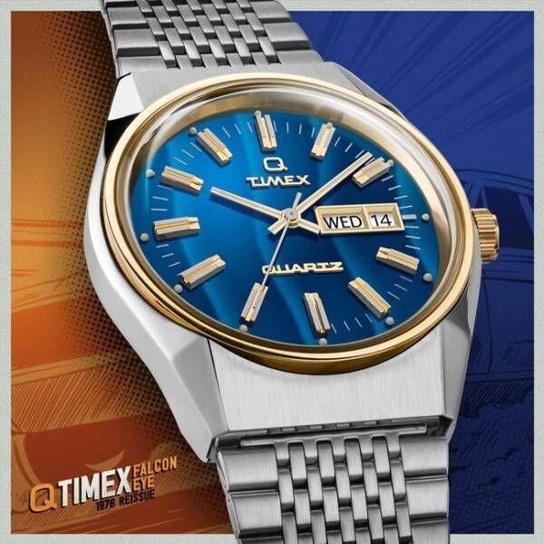 縦じま模様のエレクトリックブルーダイアルが新鮮! TIMEX QのTiCTAC限定販売モデルが待望の再入荷