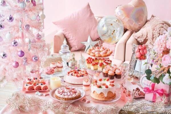 ヒルトン東京お台場でピンクづくしのストロベリーデザートビュッフェ「Christmas Girl's Room」がスタート
