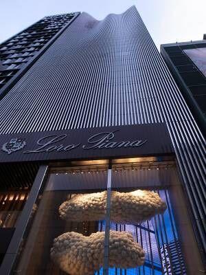 ロロ・ピアーナ銀座の新旗艦店でデジタルアートとのコラボ作品が限定公開