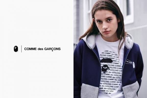 3度目となるA BATHING APE® × COMME des GARCONSのコラボアイテムが10月24日発売決定