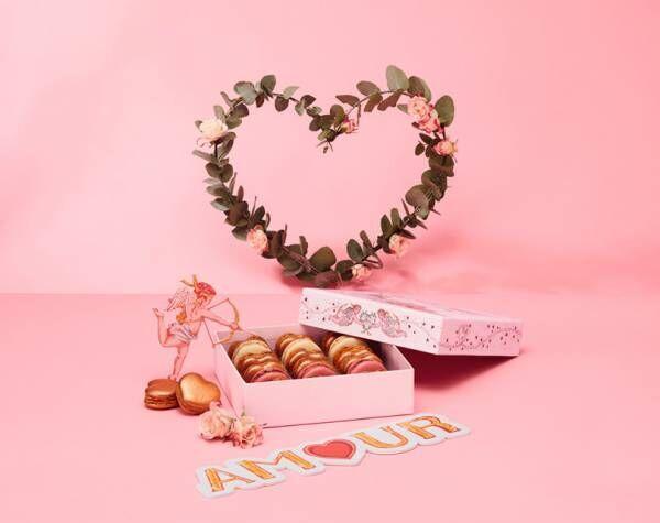 ラデュレの2021バレンタイン、キューピッドとヴィーナスのラブリーな限定マカロンボックスが登場