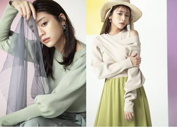 モデルの貴島明日香と共同開発。アンデミュウが「ON・OFF着まわせる好印象モテ服」コラボアイテムを発売