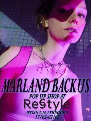 NY発のアクセサリーブランド「マーランドバッカス」が伊勢丹新宿店で初のポップアップ。21SSの新作全17型を発売