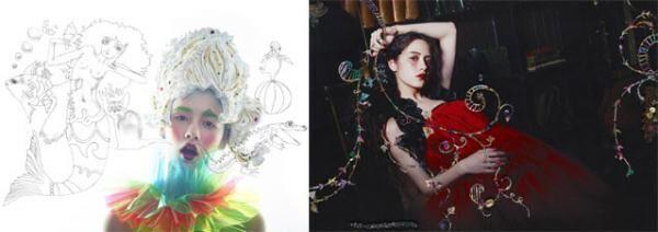 資生堂「マジョリカ マジョルカ」クリエーターによるヘア&メーキャップ展、小松菜奈・玉城ティナがモデル