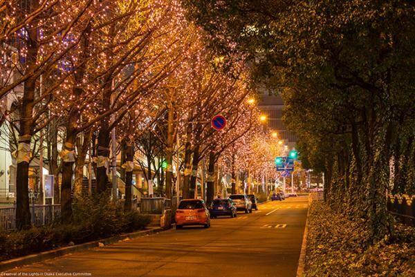 「大阪・光の饗宴2016」開催 - 御堂筋・中之島公園がイルミネーションで飾られる