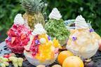 モンシェールよりカキ氷&カキ氷ケーキ発売 - こだわりの自家製シロップと堂島ロールのクリームを乗せて