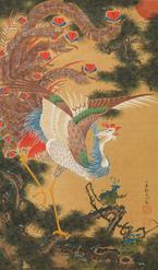 展覧会「若冲と蕪村 江戸時代の画家たち」が箱根で、「孔雀鳳凰図」など計40点を展示