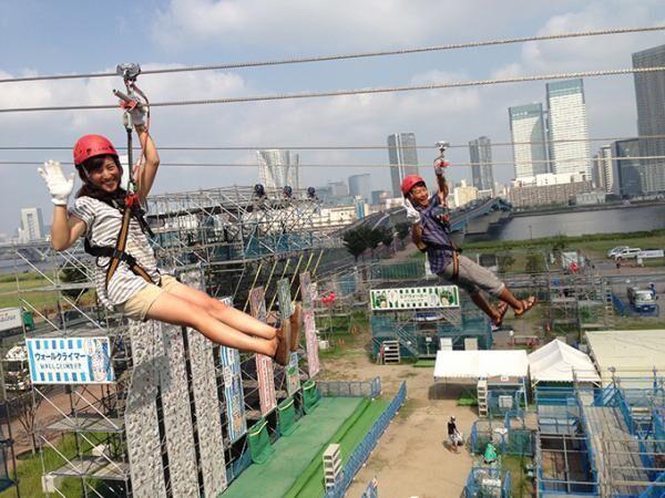 巨大遊具のテーマパーク『あみゅ博』東京・豊洲で開催 - ロングスライダーやウォールクライマーなど