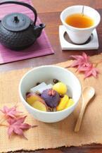 船橋屋の季節限定「お芋のあんみつ」紫芋や栗など秋の味覚をふんだんに