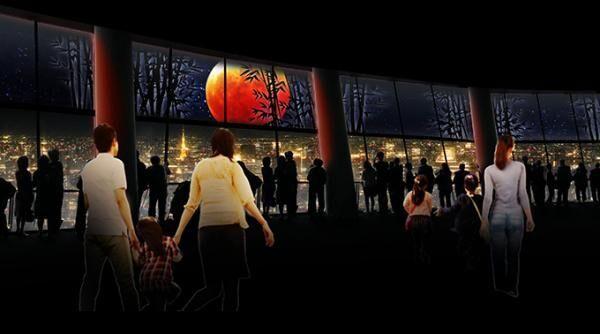 東京スカイツリー 都会の夜景と中秋の名月を楽しむ空間演出 - 映像「奇跡の月」を上映