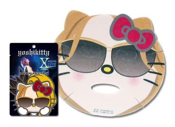 YOSHIKI×ハローキティ「ヨシキティ なりきりフェイスパック」発売 - ラベンダーとバラの香り