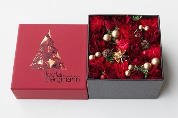 ニコライ バーグマンからクリスマス限定フラワーボックスアレンジメント
