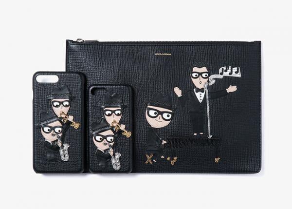 ドルチェ&ガッバーナからデザイナーをユーモラスに描いたレザーiPhoneケースや財布