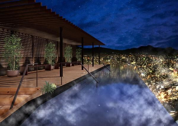 大江戸温泉物語「長崎ホテル清風」4月リニューアルオープン - 長崎の夜景を展望露天風呂から