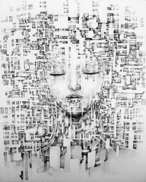 アーティストKYOTAROの個展、渋谷・ディーゼル アート ギャラリーで - 未来人が纏う衣がテーマ