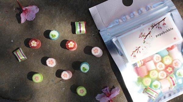 パパブブレから桜シーズン限定キャンディ「桜ミックス」ラベルに日本画