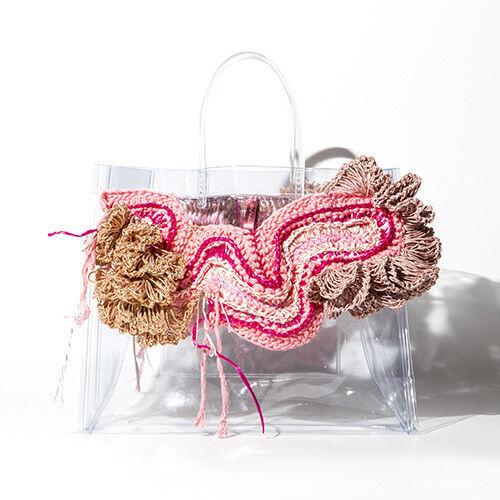 カスタムクリアバッグ展示&販売が表参道 ROCKETで、リトゥン山縣良和やモデル水原佑果などが参加