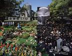 東京初の野外型国際フォトフェスティバルが上野エリアで、噴水に水鏡の写真を浮かべるユニークな展示など