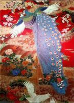 「和硝子の世界」展が岐阜・飛騨高山で開催、着物や西陣織の帯を封じ込めたガラスアートを町家空間で