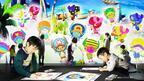 「ワンピース×チームラボ デジタルアー島の冒険 in熊本」スクリーンで動き回る自分が描いたチョッパー